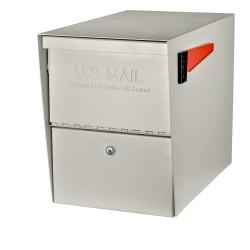 "Mail Boss™ Package Master Locking Mailbox, 16 1/2""H x 12""W x 21 1/2""D, White"