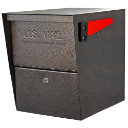 "Mail Boss™ Package Master Locking Mailbox, 16 1/2""H x 12""W x 21 1/2""D, Bronze"