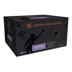 Copper Moon® World Coffees Single Pods, Sumatra, 0.35 Oz, Carton Of 80