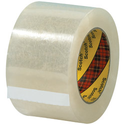"Scotch® 313 Carton Sealing Tape, 3"" Core, 3"" x 55 Yd., Clear, Case Of 6"