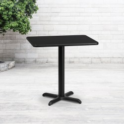 "Flash Furniture Rectangular Laminate Table, 31-3/16""H x 24""W x 30""D, Black"