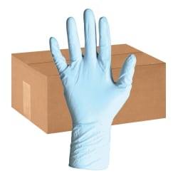 DiversaMed Disposable Nitrile Exam Gloves, Powder-Free, XXL, Blue, 50 Per Pack, Case Of 10 Packs