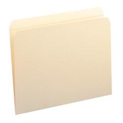 Smead® Reinforced Tab Manila File Folders, Letter Size, Straight Cut, Box Of 100