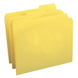 Smead® Color File Folders, With Reinforced Tabs, Legal Size, 1/3 Cut, Yellow, Box Of 100