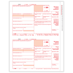 """ComplyRight™ 1098 Tax Forms, 2-Up, Federal Copy A, Laser, 8-1/2"""" x 11"""", Pack Of 100 Forms"""