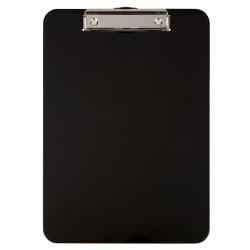 """Office Depot® Brand Plastic Clipboard, 9""""H x 12 1/2""""W x 1/8""""D, Black"""
