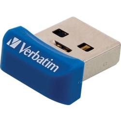 Verbatim 16GB Store 'n' Stay Nano USB 3.0 Flash Drive - Blue - 16 GB - Blue - 1 Pack