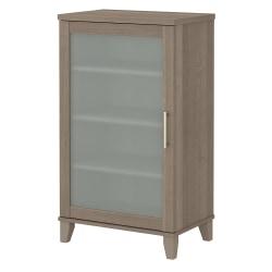 "Bush Furniture Somerset 24""W Media Storage Cabinet, Ash Gray, Standard Delivery"