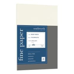 "Southworth® Techweave Paper, Letter Size (8 1/2"" x 11""), 96 (U.S.) Brightness, 32 Lb, Bare White, Ream Of 50 Sheets"