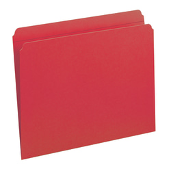 Smead® File Folders, Letter Size, Straight Cut, Red, Box Of 100