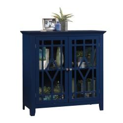 Sauder® Shoal Creek Display Cabinet, 2 Shelves, Indigo Blue