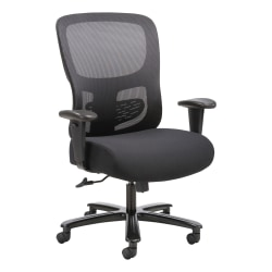 HON® Sadie Fabric/Ergonomic Bonded Leather High-Back Task Chair, Black