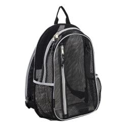 Eastsport Sport Mesh Backpack, Black/Silver