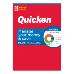 Quicken® Deluxe Personal Finance Software, 1-Year Subscription, For PC/Mac®