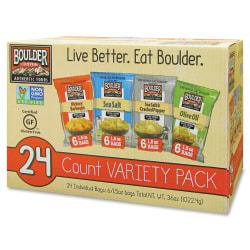 Boulder Canyon Inventure Variety Pack - Non-GMO, Gluten-free - Bag - 1.50 oz - 24 / Carton