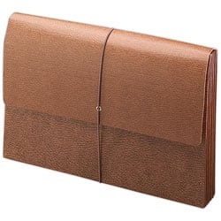 Smead® Leather-Like Expanding Wallet, Legal Size, 30% Recycled, Brown