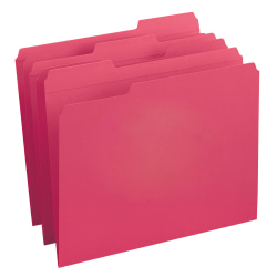 Smead® Color File Folders, With Reinforced Tabs, Legal Size, 1/3 Cut, Red, Box Of 100