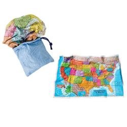 "Round World Products USA Scrunch Map, 24"" x 36"""