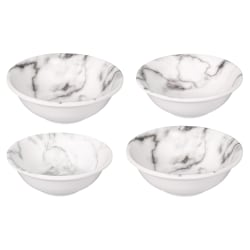 Amscan Small Melamine Bowls, 7 Oz, Marble, Set Of 4 Bowls
