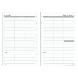 "TUL® Discbound Weekly/Monthly Refill Pages, 5-1/2"" x 8-1/2"", January To December 2021, TULJRFLR-UTIM-RY"