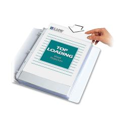 "C-Line® Polypropylene Top-Loading Sheet Protectors, 8 1/2"" x 11"", Standard Weight, Nonglare, Box Of 50"