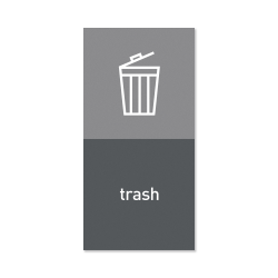 "simplehuman Magnetic Trash Label, Trash, 4"" x 8"", Gray"