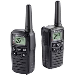 Midland T10 X-TALKER Walkie Talkie - 22 Radio Channels - Upto 105600 ft - 38 - Auto Squelch, Keypad Lock, Silent Operation, Low Battery Indicator, Hands-free - Water Resistant - AAA