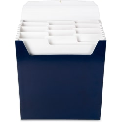 "Smead® Organized Up® 12-Pocket Vertical Expanding File, Letter Size, 8 1/2"" x 11"", Monaco Blue"