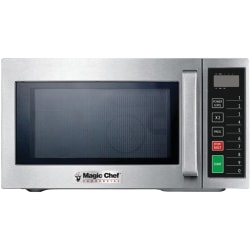 Magic Chef MCCM910ST .9 Cubic-ft Commercial Microwave - Single - 6.73 gal Capacity - Microwave - 3 Power Levels - 1000 W Microwave Power - Stainless Steel, Ceramic - Countertop