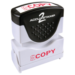 """ACCU-STAMP2® Copy Stamp, Shutter Pre-Inked One-Color COPY Stamp, 1/2"""" x 1-5/8"""" Impression, Red Ink"""