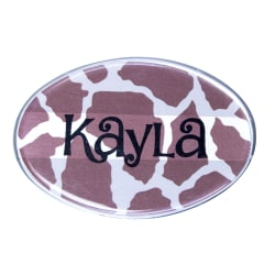 "The Mighty Badge™ Animal Print Name Badge Kit, 2 5/8"" x 1 3/4"", Giraffe Print, 10-Pk"