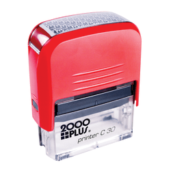 "2000 Plus® Self-Inking Security Stamp, 1 2/5"" x 5/8"" Impression, Black"