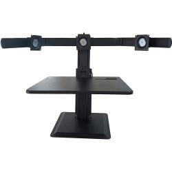 """Lorell® Deluxe 3-Monitor Desk Riser, 27-5/16"""" x 26"""", Black"""
