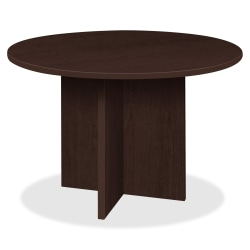"Lorell® Prominence 2.0 Round Conference Table, 42""W, Espresso"
