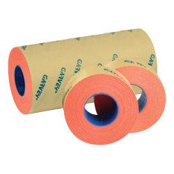 "Garvey 2-Line Tamper-Resistant Price Marking Labels, 5/8"" x 13/16"", Fluorescent Red, 1,000 Labels Per Roll, Pack Of 9 Rolls"