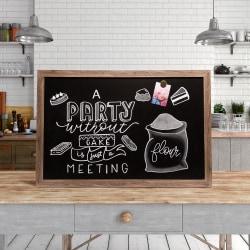 "U Brands Décor Magnetic Chalkboard, 36"" x 24"", Rustic Brown Steel Frame"