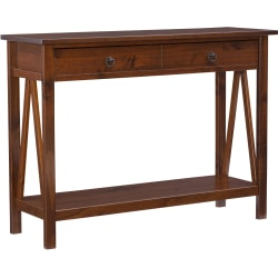Linon Home Decor Products Rockport Console Table, Antique Tobacco