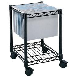 Safco® Rolling Cart, Letter/Legal, Black