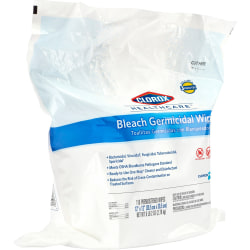 """Clorox Healthcare Bleach Germicidal Wipes Refill - Ready-To-Use Wipe12"""" Width x 12"""" Length - 110 - 100 / Bundle - White"""