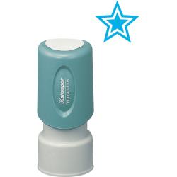 """Xstamper Pre-Inked Star Shape Stamp - Design Stamp - """"STAR"""" - 0.63"""" Impression Diameter - 100000 Impression(s) - Light Blue - Plastic Cap - Recycled - 1 Each"""