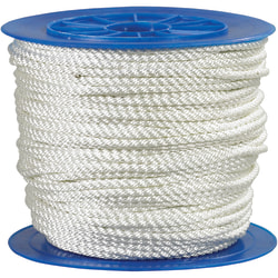 """Office Depot® Brand Twisted Nylon Rope, 3,240 Lb, 3/8"""" x 600', White"""