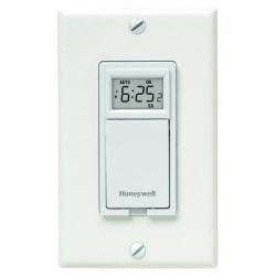 Honeywell 7-Day Programmable Light Switch Timer, White, RPLS730B1000U