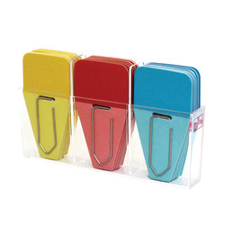 """Clip-rite™ Clip-Tabs, 1 1/4"""", Blue/Red/Yellow, 24 Clip-Tabs Per Pack, Set Of 6"""