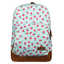 Playground Smooth Backpacks, Teal/Cherries, Pack Of 5 Backpacks