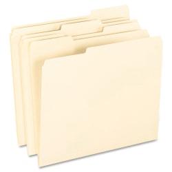 Pendaflex® Smart Shield™ File Folders, Letter Size, Manila, 1/3 Cut Tabs