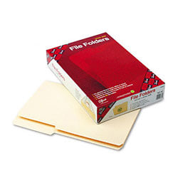 Smead® Guide Height 2/5-Cut Recycled File Folders, Legal Size, Manila, Box Of 100