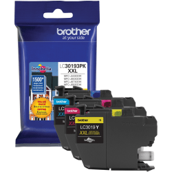 Brother LC30193PK Ink Cartridge - Cyan, Magenta, Yellow - Inkjet - Super High Yield - 1500 Pages Cyan, 1500 Pages Magenta, 1500 Pages Yellow - 1 / Pack
