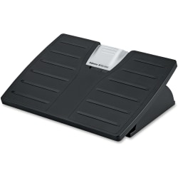 Adjustable Locking Footrest with Microban, Black/Silver
