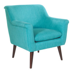 Office Star™ Dane Accent Chair, Turquoise/Dark Coffee