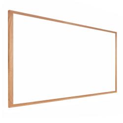 "Ghent Dry-Erase Whiteboard, Medium-Density Fiberboard, 18"" x 24"", Brown Wood Frame"